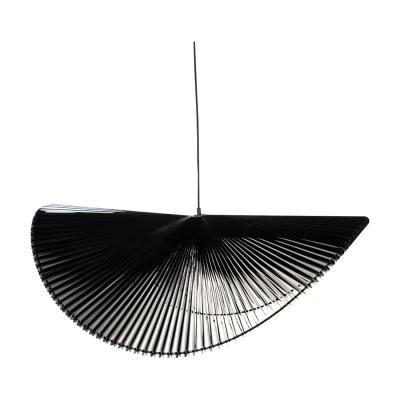 Exkluzív függesztett mennyezeti lámpa, extra hullámvonalú, fekete - ONDES